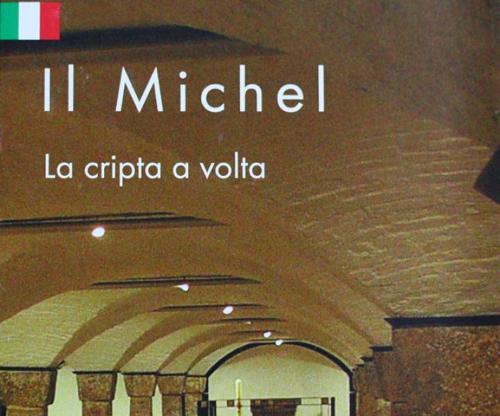 Flyer für die Krypta der Kirche St. Michaelis in Hamburg, Italienisch